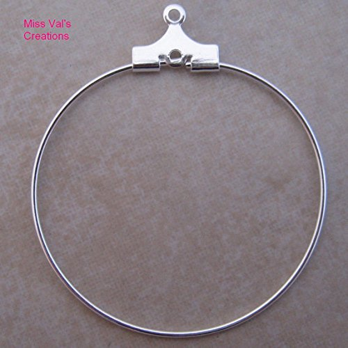 Silver Plated Beading Hoops 30mm product image