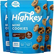 HighKey Snacks Keto Food Low Carb Snack Cookies, Chocolate Chip - Gluten Free & No Sugar Added, Healthy Diabetic, Paleo, Dessert Sweets, Diet Foods - 3 Pack