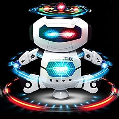 Dancing Robot for Celebration. Battery Powered with Lights and Music. Fun At Home and Office