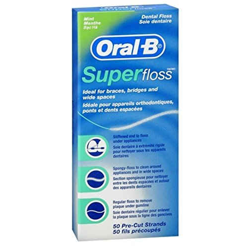 Cheap Oral-B Super Floss Mint Dental Floss Pre-Cut Strands 50 ea (Pack of 18)