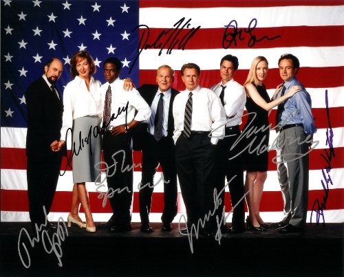 The West Wing TV Series Cast Signed Autographed 8 X 10 Reprint Photo - Mint Condition