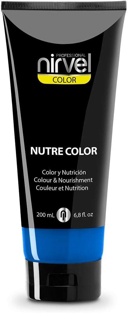 Nirvel NUTRE COLOR FLUOR Azul Klein 200 mL Mascarilla Profesional - Coloración temporal - Nutrición y brillo