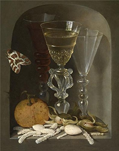 [Oil Painting 'Osias Beert I,Still Life With Three Wineglasses In A Niche,1580-1624', 10 x 13 inch / 25 x 32 cm , on High Definition HD canvas prints is for Gifts And Bar, Basement And Foyer] (Trailer Trash Outfits)