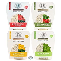Quinoa Meal Pack 4 Variety Flavors Ready To Eat Gluten Free Non GMO Vegan 7.9 Ounce (4-Count)