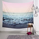 Arfbear Ocean Tapestry, Beach Wall Tapestry with Art Trippy Home Decorations for Living