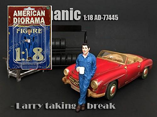 AMERICAN DIORAMA 1:18 MECHANIC - LARRY TAKING BREAK for sale  Delivered anywhere in USA