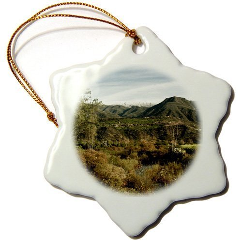 Christmas Craft Tree Decorations Nature Landscape Of The Ojai Valley Snowflake Christmas Ornament Porcelain Present by Rutehiy