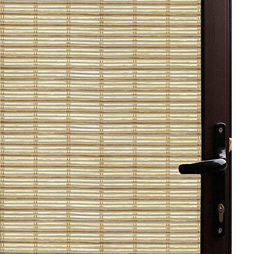 - Qualsen Window Film Bamboo Static Decorative Privacy Window Films Non-Adhesive Anti Uv Window Sticker for Home Kitchen Bedroom Living Room (35.4 x 78.7inch)