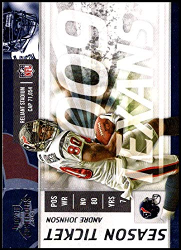 2009 Playoff Contenders Season Tickets #39 Andre Johnson NM-MT Houston Texans Official NFL Football Trading - Tickets Texans Houston Football