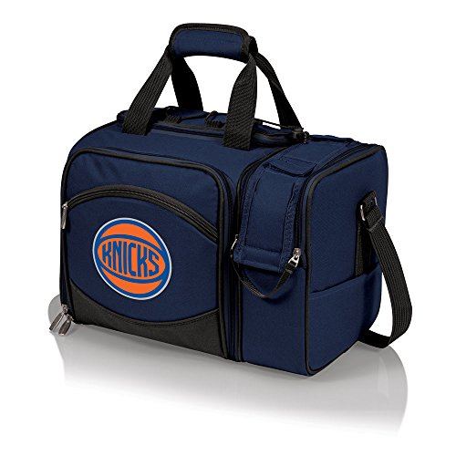 NBA New York Knicks Malibu Insulated Shoulder Pack with Deluxe Picnic Service for Two