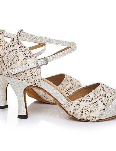 ShangYi Chaussures de danse(Autre) -Personnalisables-Talon Aiguille-Similicuir-Latine , beige-us6 / eu36 / uk4 / cn36 , beige-us6 / eu36 / uk4 / cn36