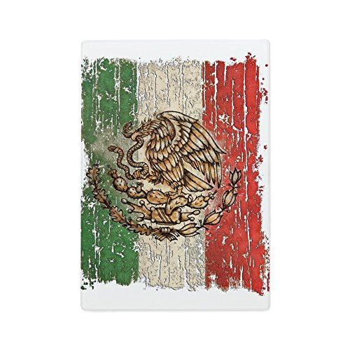 Glass Cutting Board Mexican Flag Mexico Grunge by Royal Lion