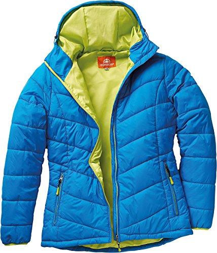 laest technology überlegene Materialien 2019 heißer verkauf Nordcap Damen Jacke in Daunenoptik, warme Steppjacke in Blau, tolle  Übergangs- & Winterjacke, 100% Wattierung (Gr: 36 - 50)