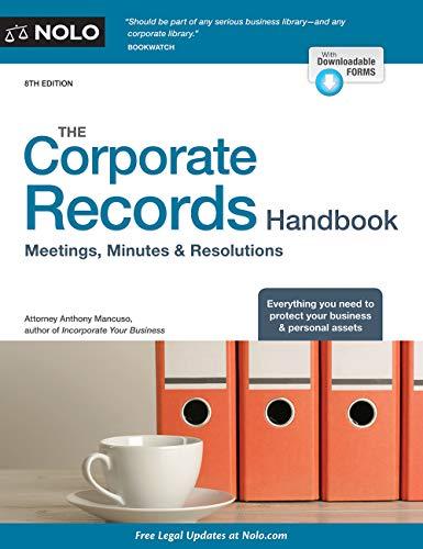 Corporate Records Handbook, The:...