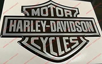 Escudo, logotipo, calcomanía, Harley Davidson, logotipo clásico, adhesivo resinado, efecto 3D.Para depósito o casco.: Amazon.es: Coche y moto