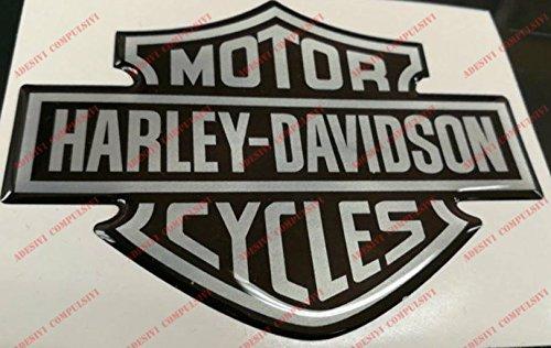 Stemma logo decal HARLEY DAVIDSON, classic logo, adesivo resinato, effetto 3D. Per SERBATOIO o CASCO Adesivi Compulsivi