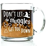 Got Me Tipsy Don't Let Them Get You Down Funny Coffee Mug - Birthday Gift Idea for Him or Her, Gifts for Women and Father's Day Gift for Dad - 13-Ounce, Glass