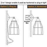 ZZ Joakoah 2 Pack Rustic Wall Sconce with Plug in