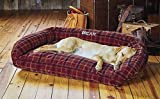 Orvis Toughchew Comfortfill Bolster Dog Bed / X-large Dogs 90-120 Lbs., Field Tartan, X Large