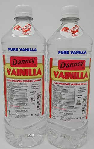 Danncy Pure Clear Mexican Vanilla Extract 33.8 Ounce Bottles Pack of 2 by Danncy