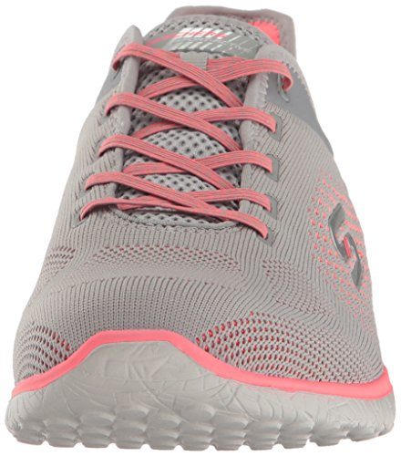 Skechers Supersonic Gray Sport Microburst Womens Coral Fashion Sneaker rUrqtxB