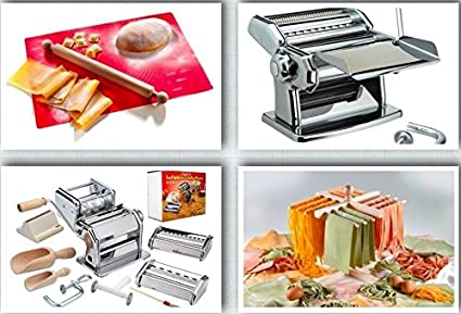 Juego de - 12 teilig - Máquina para hacer pasta + secador de pasta + al