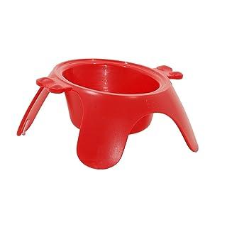 Petego Yoga Raised Pet Bowl, Large, Red
