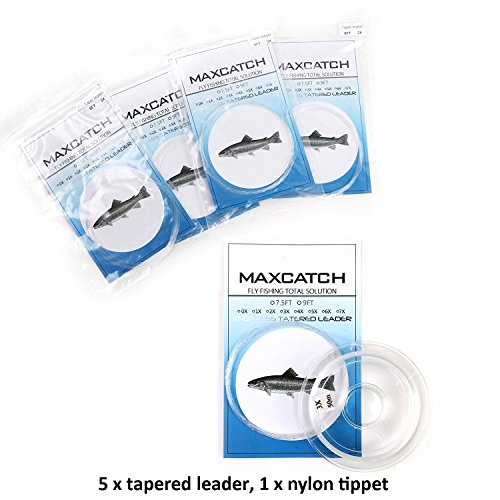 Maxcatch Tapered Leader and Tippet Combo 9ft 3X/4X/5X/6X for Fly Fishing (Fly Fishing Tapered Leader)
