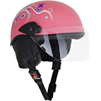 Sage Square Aero Half Helmet (Pink Glossy) (With Decal) (Small)