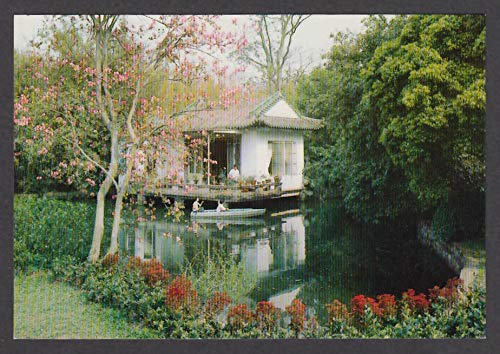 The Water Pavilion in Orchid Garden China postcard 1980s (China Orchid)