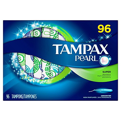 Tampax Pearl Unscented Tampons, Super (96 ct.) (Tampons Unscented Pearl Tampax)