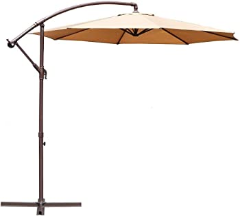 Le Papillon 10-ft Offset Hanging Patio Outdoor Cantilever Umbrella