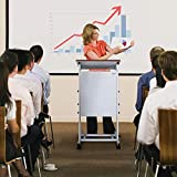 Bonnlo Mobile Stand Up Lectern Podium with