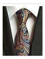 MENDENG Paisley Jacquard Woven Men's Tie Scarf Wedding Party Necktie Formal Ties