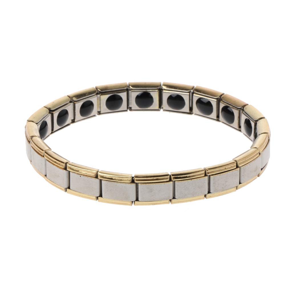 Simdoc Magnetic Bracelet,Titanium Steel Health Magnetic Therapy Bracelet Pain Relief Magnets For Arthritis And Carpal Tunnel
