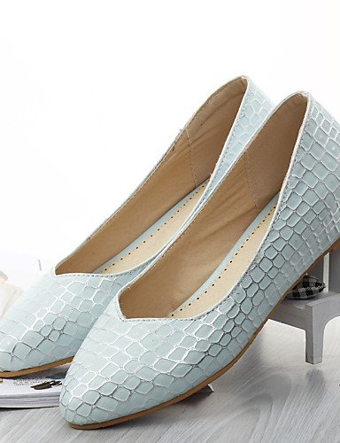shangy idamen Chaussures–Ballerines–outddor/bureau/robe/Lässig–en cuir synthétique–talon plat–Confort/Chaussures à bout pointu–Bleu/Rose/Blanc Bleu - bleu plmAqWn
