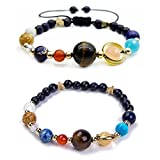 Solar System Bracelet the Eight Planets Guardian Star Earth Space Universe Galaxy Gemstone Beads Bracelet