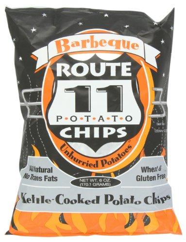 Route 11 Potato Chips Potato Chip, Bbq, 6-Ounce (Pack of 6) (Low Potato Salt Chips)