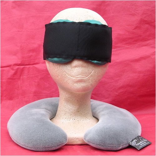 Sleep Easy Kit includes Microwaveable Neck Pillow with Washable Cover and Teal Silk Contoured Eye Pillow and Adjustable Sleep Band by Relaxation in a Bag by Relaxation in a Bag