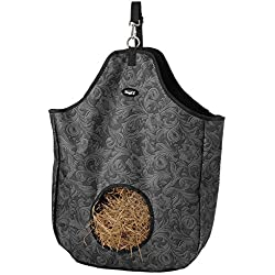 Tough 1 Nylon Hay Tote Bag in Prints, Tooled Leather Black