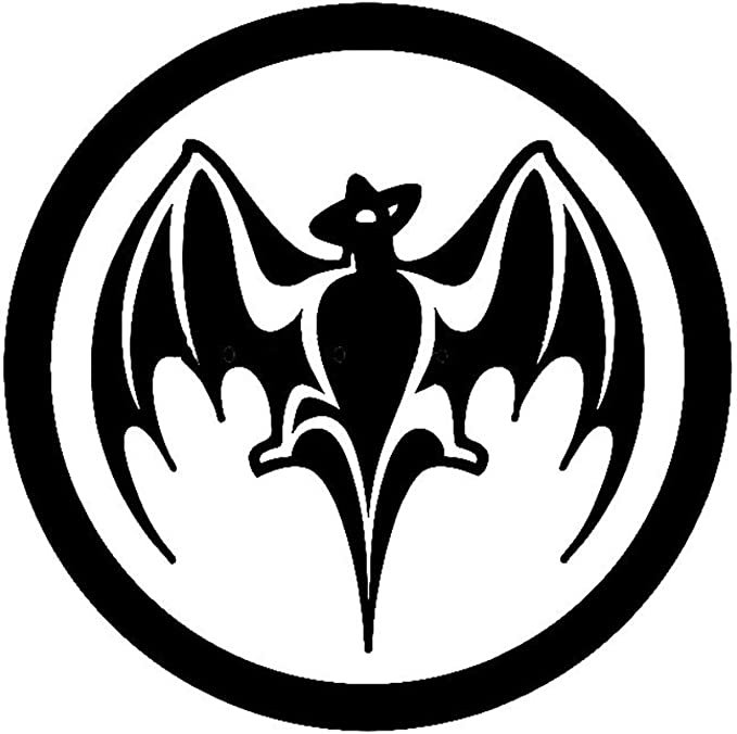 etiqueta de la pared Bacardi Ron Vampire Bat Sticker Para ...