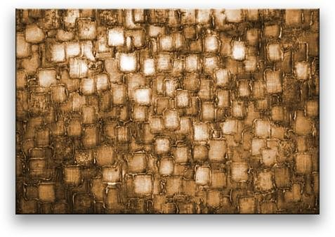 Oil Painting Abstract Modern Art on Canvas Handmade Golden Squares (24x36 inches) by Matthew's Art Gallery