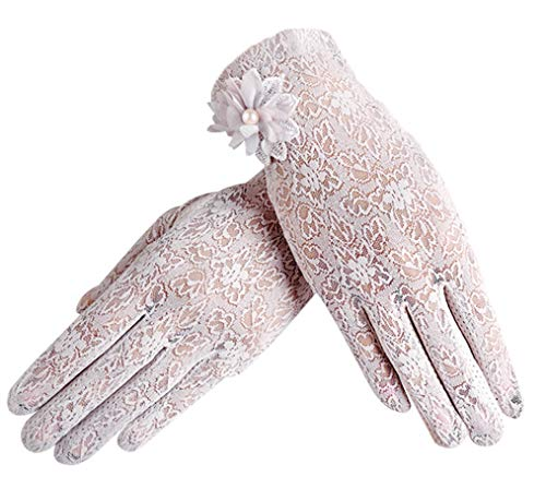 Summer Women's Sun Uv Protection Gloves Touch Screen Driving Gloves, Purple]()