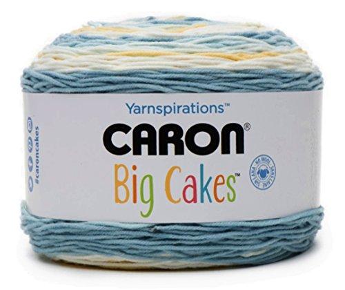 (Caron Big Cakes Self Striping Yarn ~ 603 yd/551 m/10.5oz/300 g Each (Jordan)