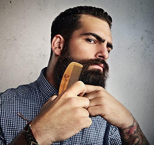 Beard Brush and Beard Comb kit for Men Grooming, Styling & Shaping - Handmade Wooden Comb and Natural Boar Bristle Beard Brush Gift set for Men Beard & Mustache Care by Rapid Beard by Rapid Beard (Image #5)