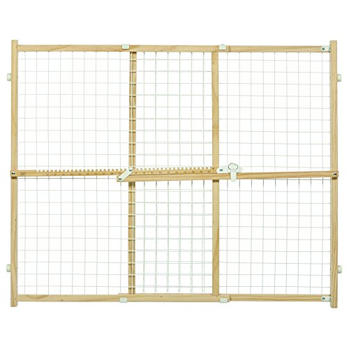 Midwest Wire Mesh Pet Safety Gate, 32 Inches Tall & Expands 29-50 Inches Wide (50 Inch Wide Dog Gates)