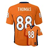 Demaryius Thomas Denver Broncos # 88 Youth Jersey Orange Football NFL Team Apparel (Youth Medium 10-12)