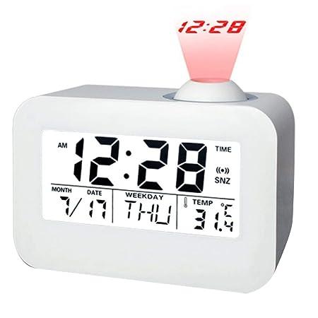 Vosarea Despertador de Proyector de Techo de Alarma de Control de ...