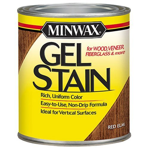 Minwax 260904444 Interior Wood Gel Stain, 1/2 pint, Red Elm