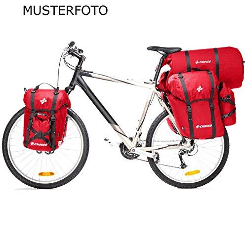 CROSSO EXPERT BIG CO1003 60 L Set Fahrradtasche Biketasche Gepäckträgertasche rot